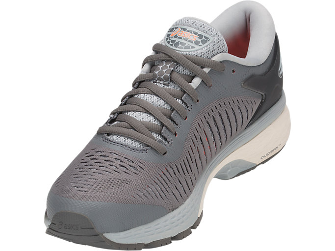 Front Left view of GEL-KAYANO 25, CARBON/MID GREY
