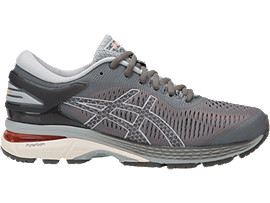 Right side view of GEL-KAYANO 25, CARBON/MID GREY