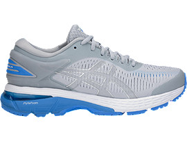 Right side view of GEL-KAYANO 25, MID GREY/BLUE COAST