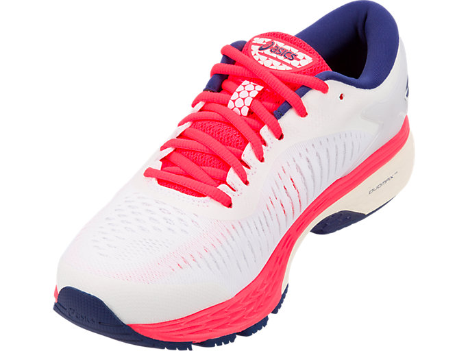 Front Left view of GEL-KAYANO 25, WHITE/WHITE