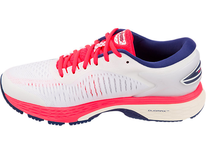 Left side view of GEL-KAYANO 25, WHITE/WHITE