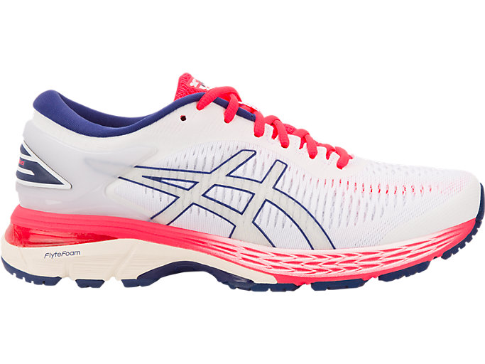 Right side view of GEL-KAYANO 25, WHITE/WHITE