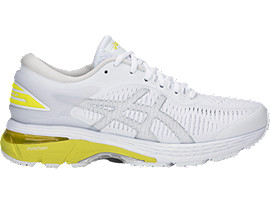 GEL-KAYANO 25, WHITE/LEMON SPARK