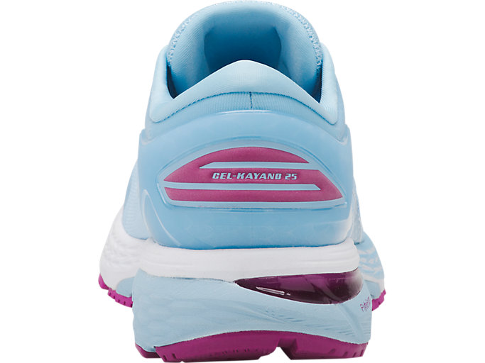 Back view of GEL-KAYANO 25, SKYLIGHT/ILLUSION BLUE