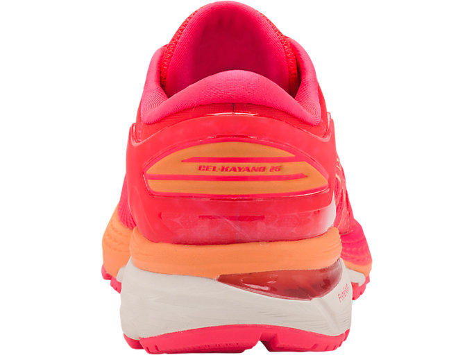 Back view of GEL-KAYANO 25, DIVA PINK/MOJAVE