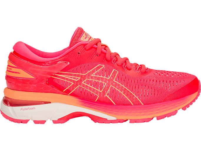 Right side view of GEL-KAYANO 25, DIVA PINK/MOJAVE