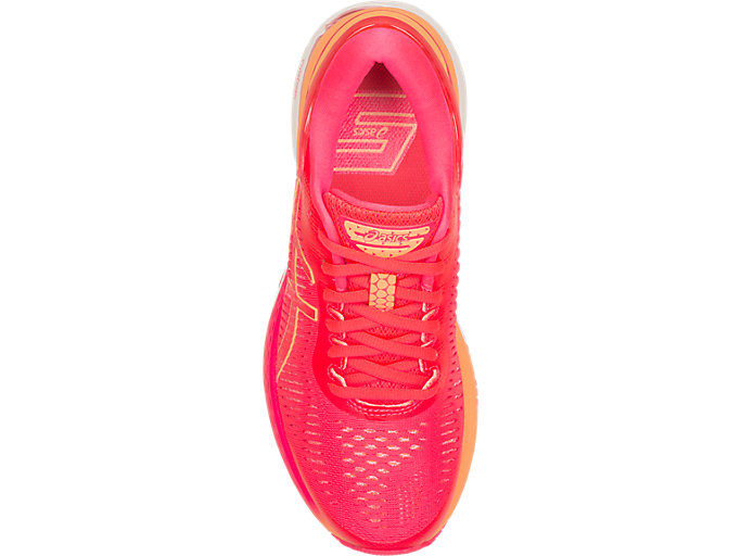 Top view of GEL-KAYANO 25, DIVA PINK/MOJAVE