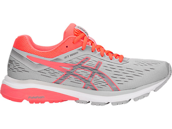 GT-1000 7, MID GREY/FLASH CORAL