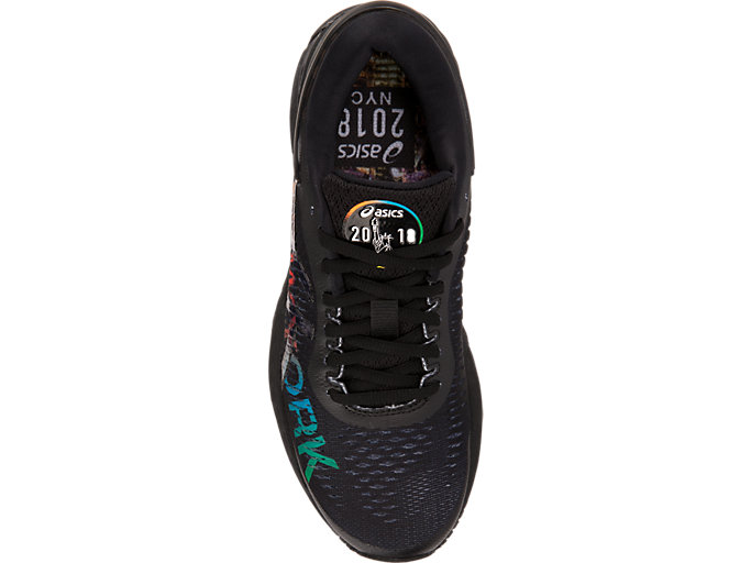 Top view of GEL-KAYANO 25 NYC, BLACK/BLACK