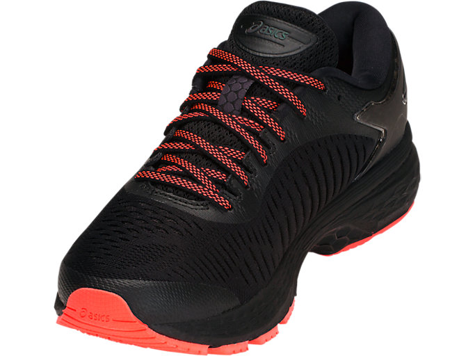 Front Left view of GEL-KAYANO 25 LITE-SHOW, BLACK/BLACK