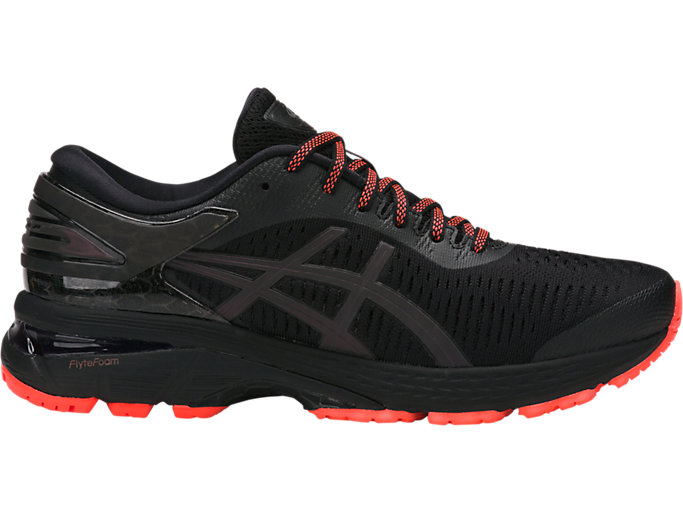 Right side view of GEL-KAYANO 25 LITE-SHOW, BLACK/BLACK