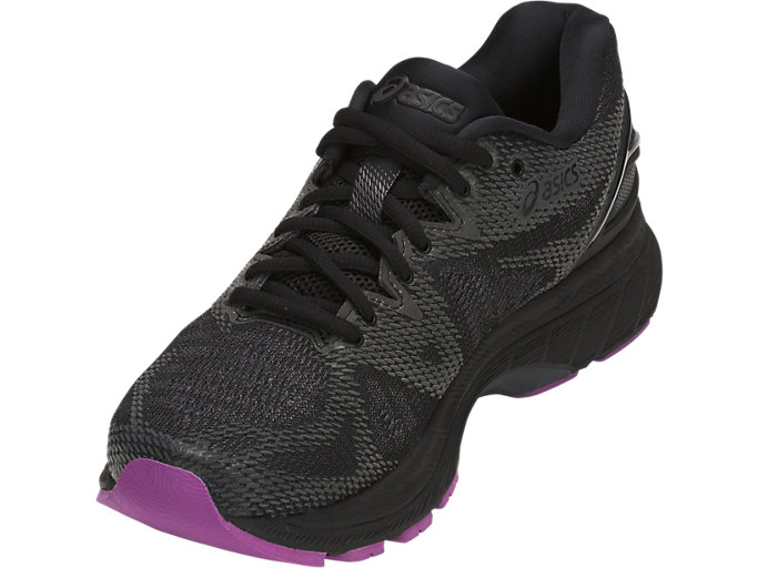 Front Left view of GEL-NIMBUS 20 LITE-SHOW, BLACK/BLACK