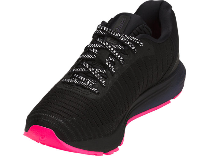 Front Left view of DYNAFLYTE 3 LITE-SHOW, BLACK/HOT PINK