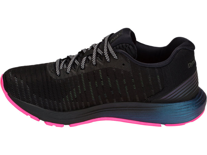 Left side view of DYNAFLYTE 3 LITE-SHOW, BLACK/HOT PINK