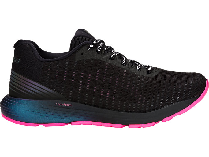 Right side view of DYNAFLYTE 3 LITE-SHOW, BLACK/HOT PINK