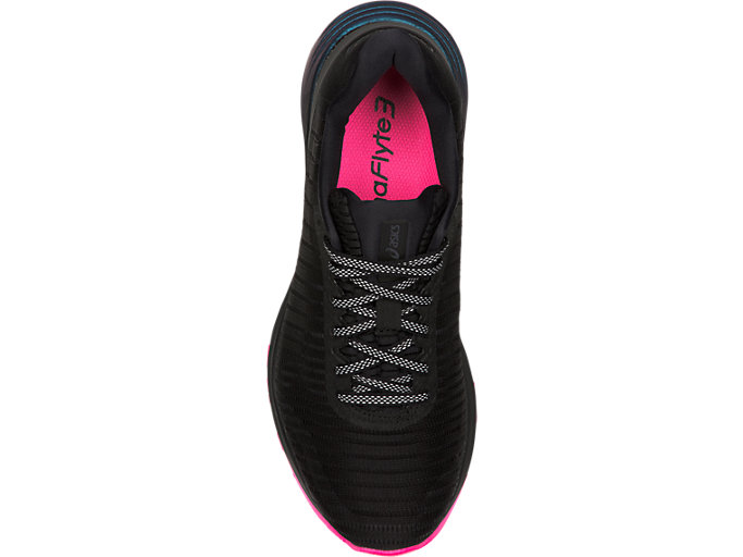 Top view of DYNAFLYTE 3 LITE-SHOW, BLACK/HOT PINK