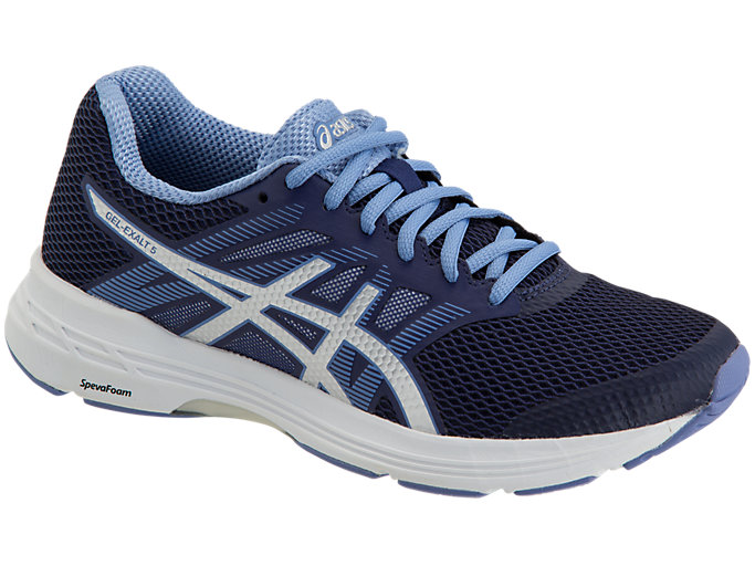 Front Right view of GEL-EXALT™ 5, INDIGO BLUE/SILVER