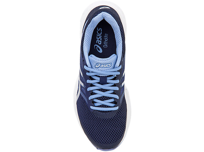 Top view of GEL-EXALT™ 5, INDIGO BLUE/SILVER