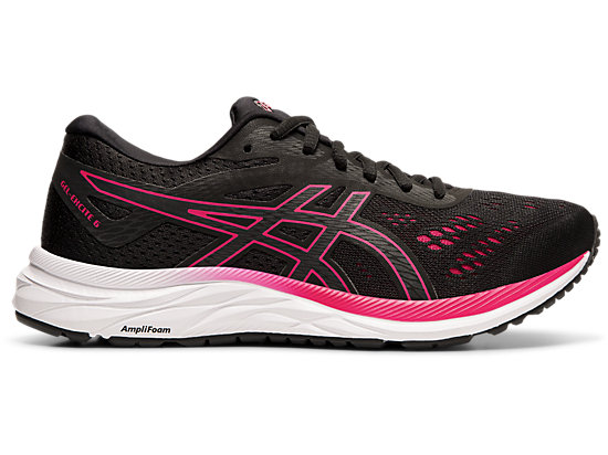 Asics Gel Excite 5 Womens Running Shoes Black Pink US 6