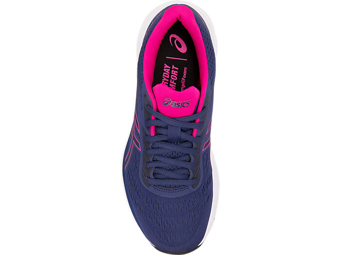 Top view of GEL-EXCITE™ 6, INDIGO BLUE/PINK RAVE