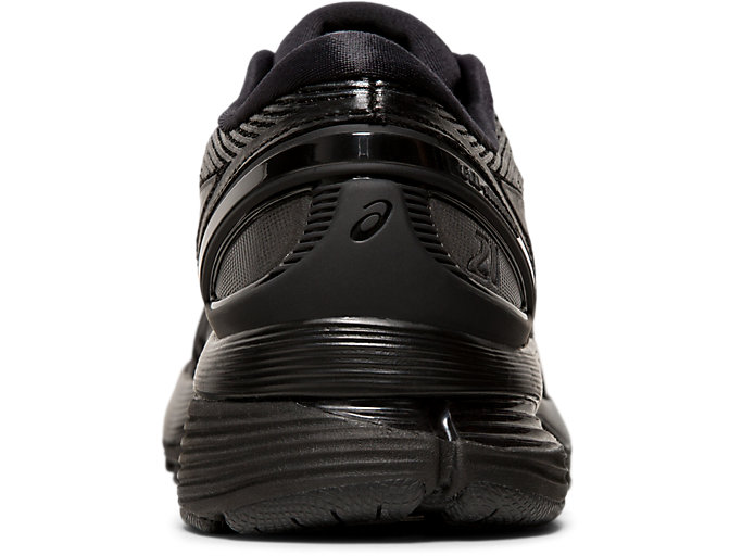 Back view of GEL-NIMBUS 21, BLACK/BLACK
