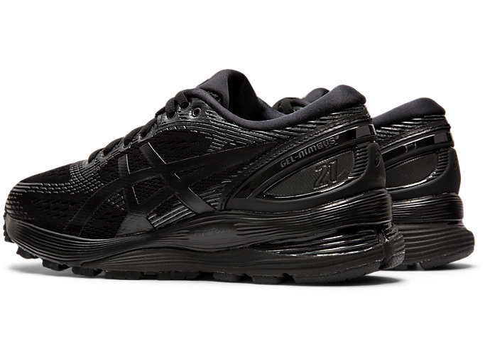 Front Left view of GEL-NIMBUS 21, BLACK/BLACK