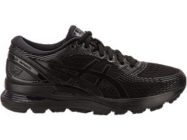 Right side view of GEL-NIMBUS 21, BLACK/BLACK