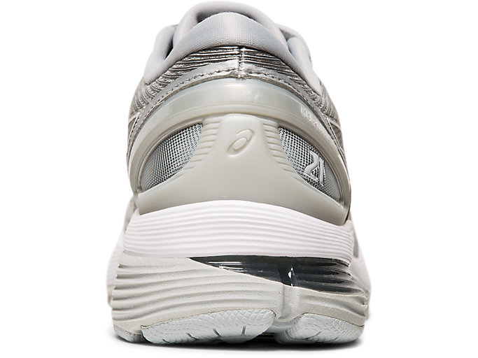 Back view of GEL-NIMBUS™ 21, MID GREY/SILVER