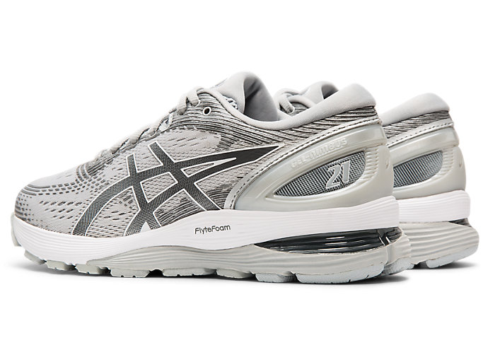 Front Left view of GEL-NIMBUS™ 21, MID GREY/SILVER