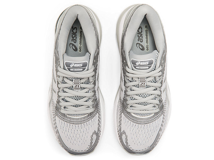 Top view of GEL-NIMBUS™ 21, MID GREY/SILVER