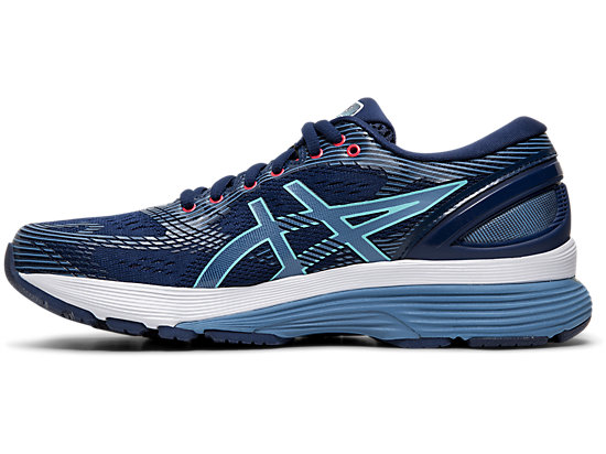 Asics Gel Nimbus 21 Women's Running Shoe Blue Expanse, Grey Floss 1012A156 401