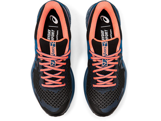 Top view of GEL-SONOMA 4, BLACK/SUN CORAL
