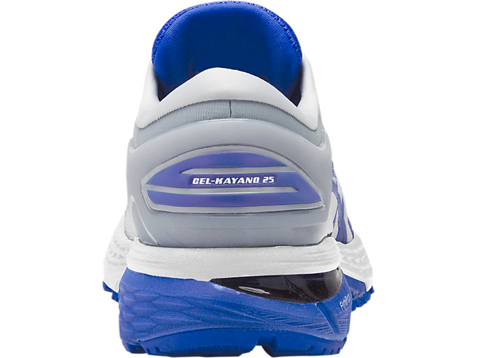 Back view of GEL-KAYANO 25 LITE-SHOW, MID GREY/ILLUSION BLUE