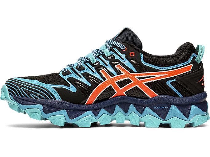 ASICS GEL FujiTrabuco 7 G TX Trail Running Shoes Women black aquarium