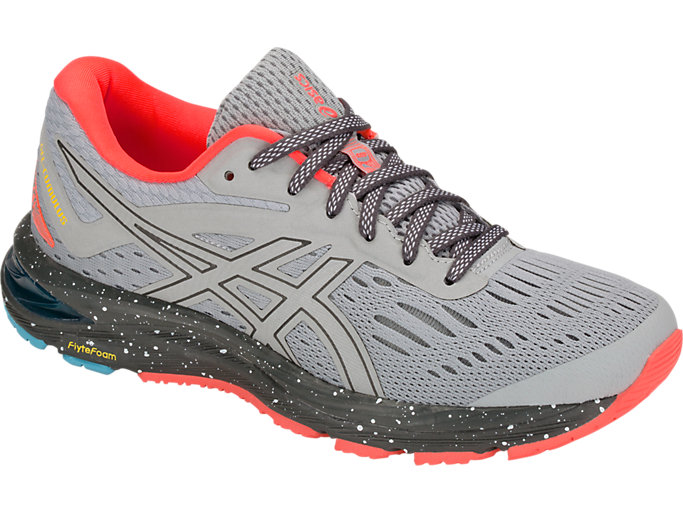 Front Right view of GEL-CUMULUS 20 LE, MID GREY/DARK GREY