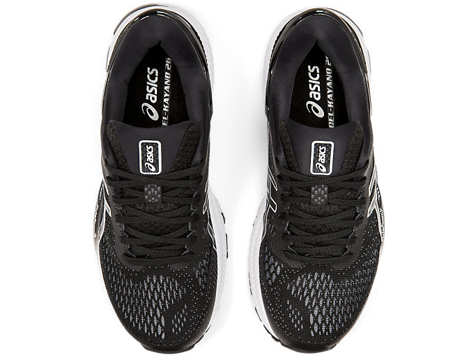 Top view of GEL-KAYANO™ 26, BLACK/WHITE