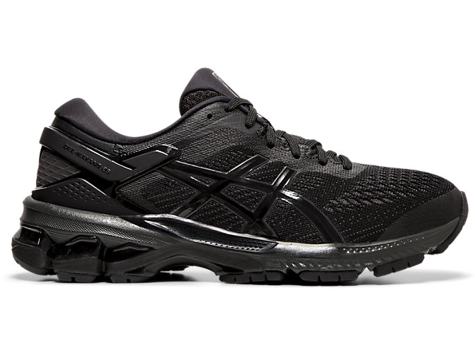 Right side view of GEL-KAYANO 26, BLACK/BLACK