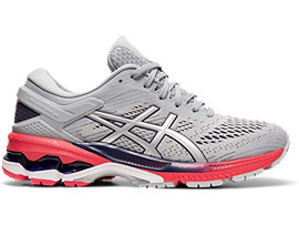 Right side view of GEL-KAYANO™ 26, PIEDMONT GREY/SILVER