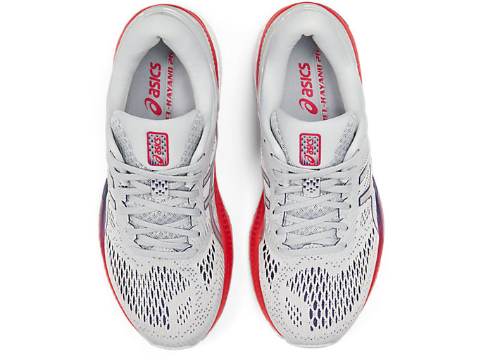 Top view of GEL-KAYANO™ 26, PIEDMONT GREY/SILVER