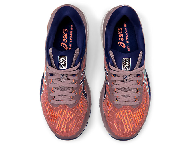 Top view of GEL-KAYANO™ 26, VIOLET BLUSH/DIVE BLUE