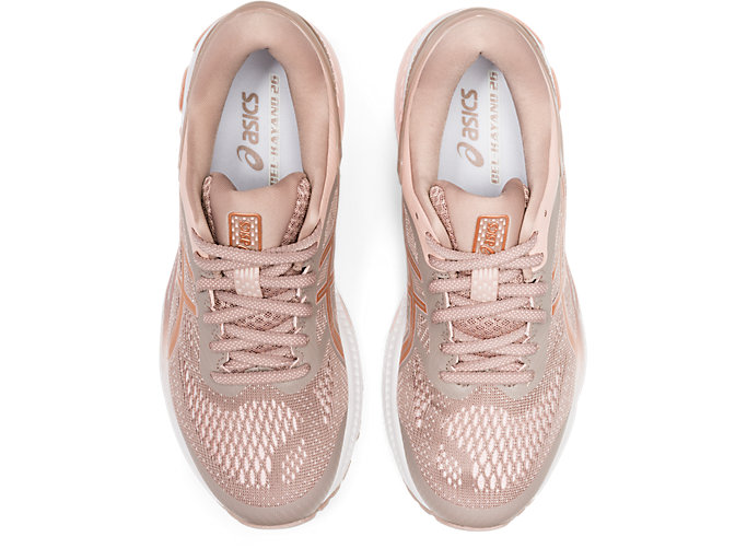 Top view of GEL-KAYANO™ 26, FAWN/ROSE GOLD