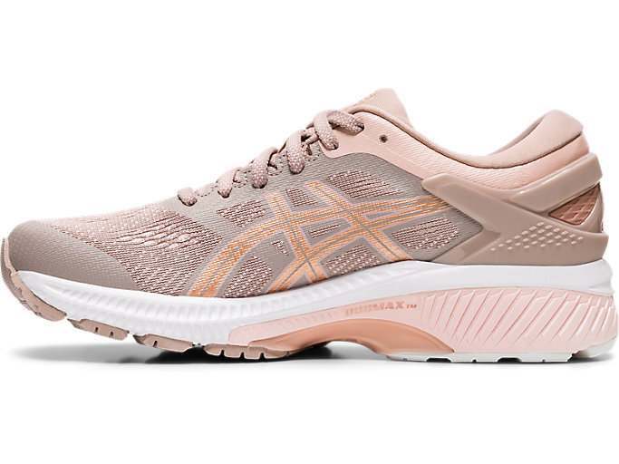 Left side view of GEL-KAYANO™ 26, FAWN/ROSE GOLD