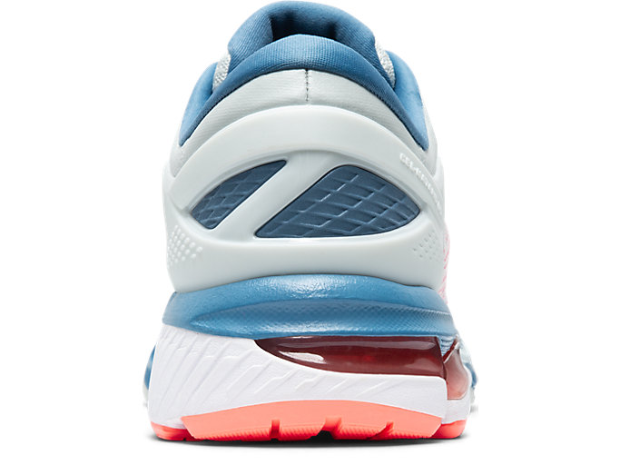 Back view of GEL-KAYANO 26, POLAR SHADE/WHITE