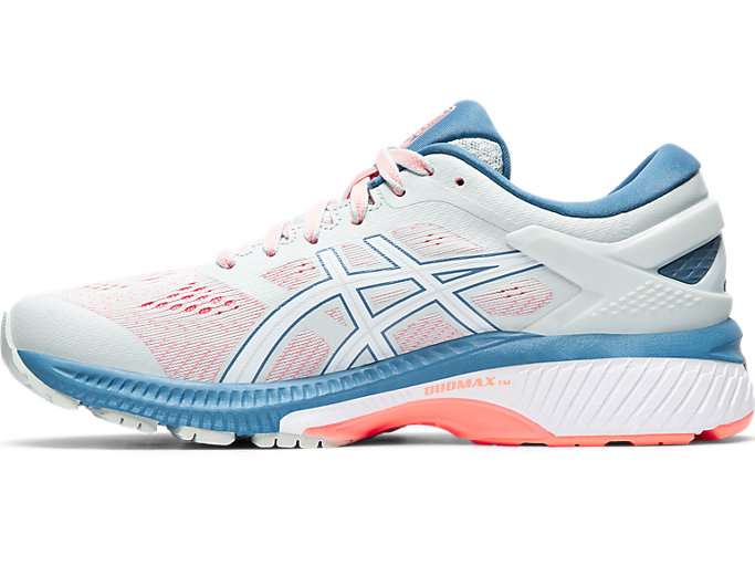 Left side view of GEL-KAYANO 26, POLAR SHADE/WHITE