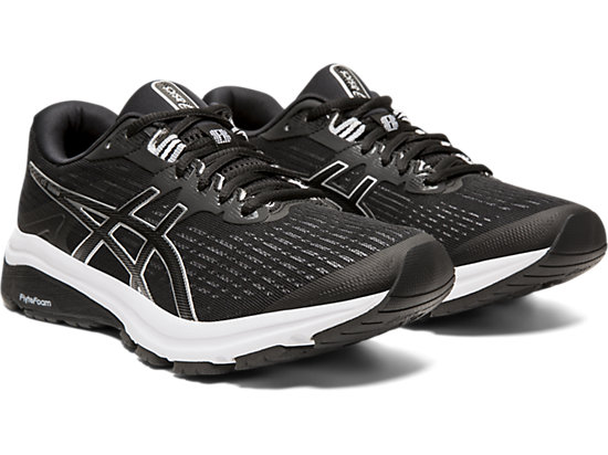 Women's Black & Silver ASICS GT 1000 DUOMAX Athletic Running