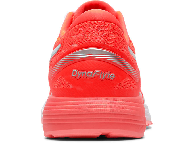 Back view of DYNAFLYTE™ 4, FLASH CORAL/WHITE