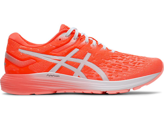 Women's DynaFlyte 4 | FLASH CORAL/WHITE | Running Shoes | ASICS