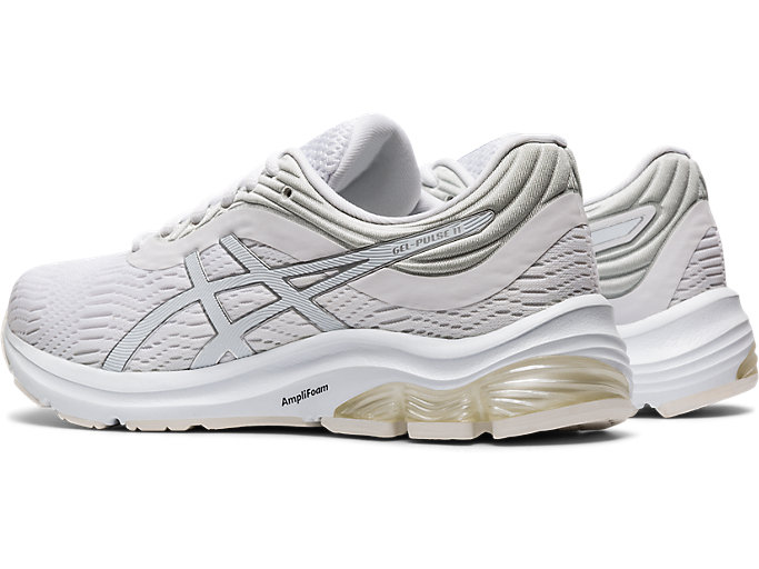 Front Left view of GEL-PULSE™ 11, WHITE/PURE SILVER