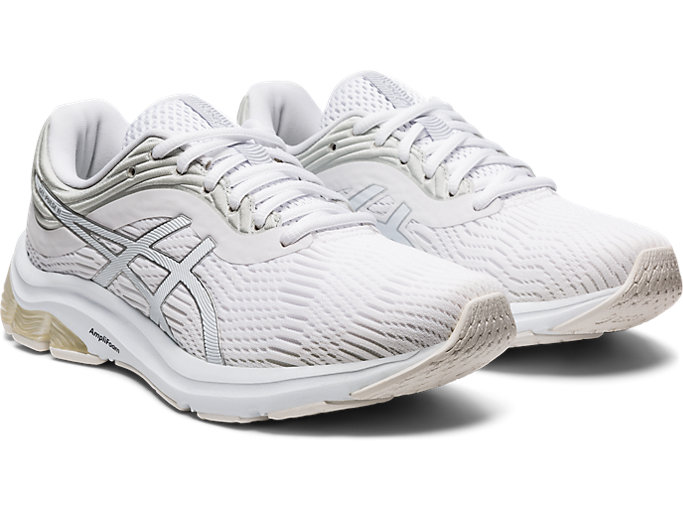 Front Right view of GEL-PULSE™ 11, WHITE/PURE SILVER