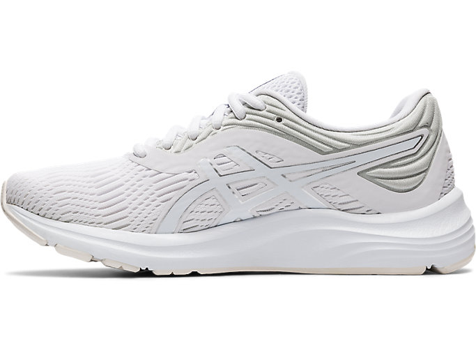Left side view of GEL-PULSE™ 11, WHITE/PURE SILVER